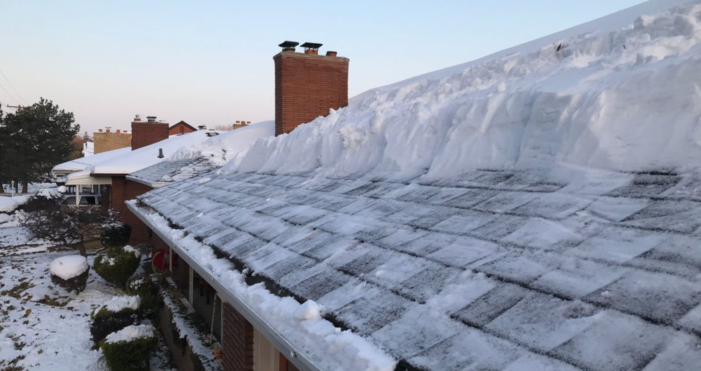 Roof shoveling and ice dam removal